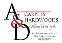 a and d carpets logo